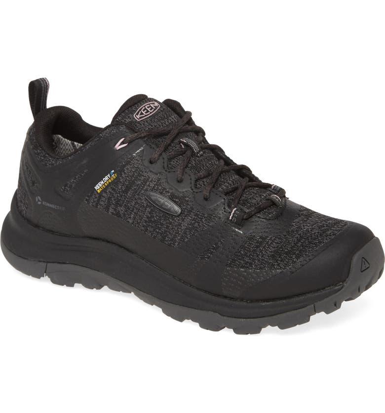 KEEN Terradora II Waterproof Sneaker, Main, color, BLACK/ MAGNET FAUX LEATHER