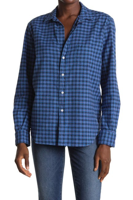 Image of FRANK & EILEEN Eileen Plaid Woven Collared Shirt