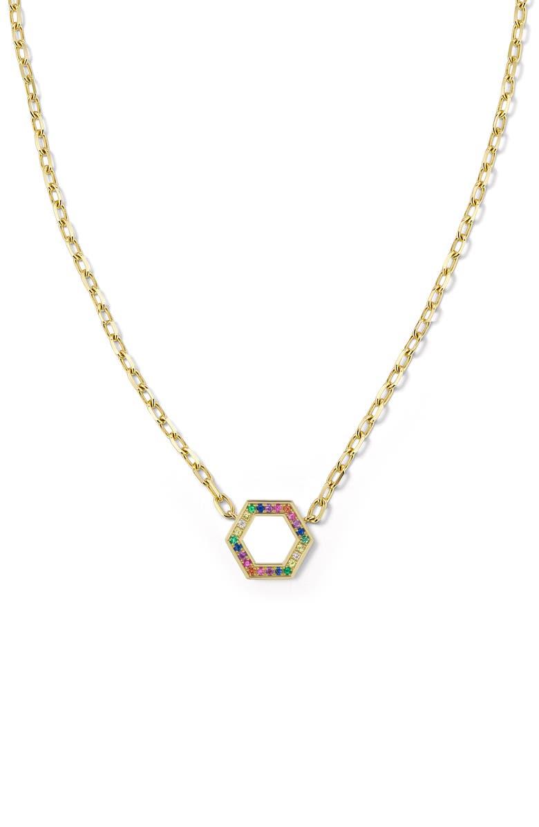HARWELL GODFREY Rainbow Pendant Necklace, Main, color, 710