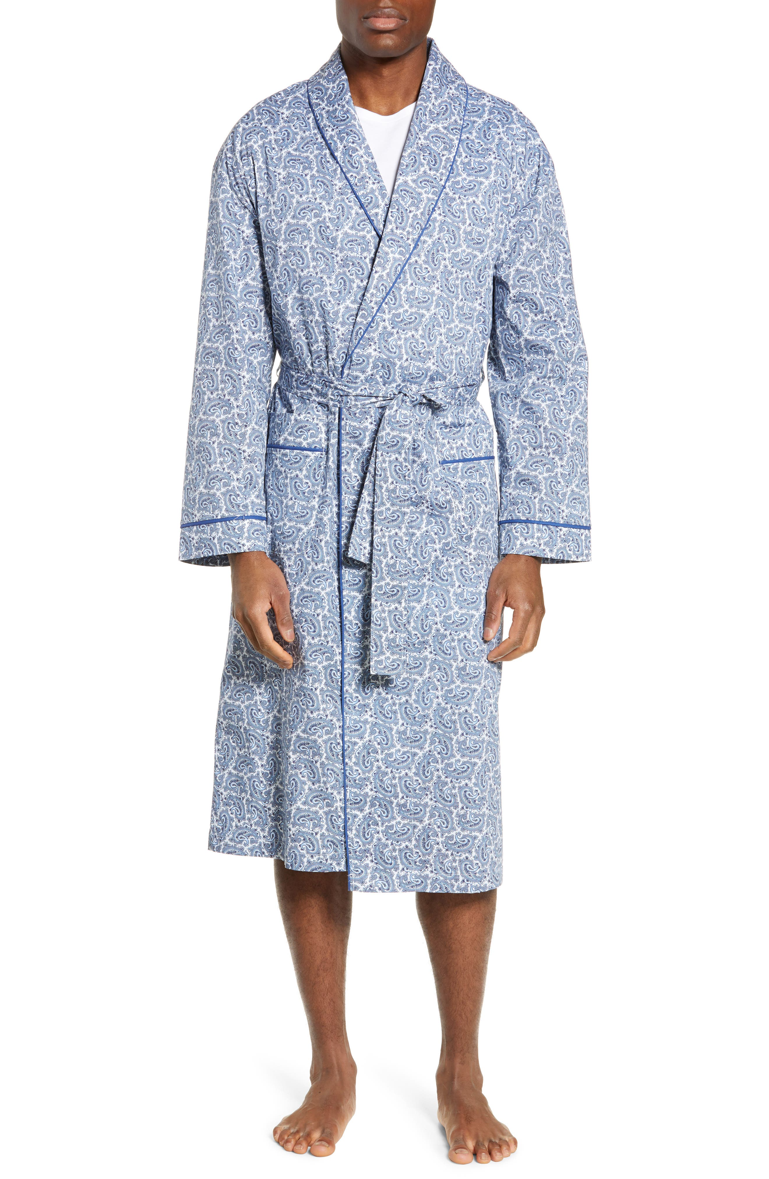 Marbella Stretch Sateen Robe, Main, color, POOL