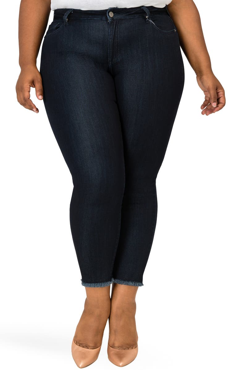 POETIC JUSTICE Annalisa Raw Edge Crop Skinny Jeans, Main, color, 401