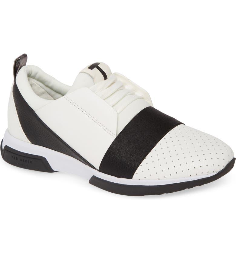 TED BAKER LONDON Cepall Sneaker, Main, color, WHITE