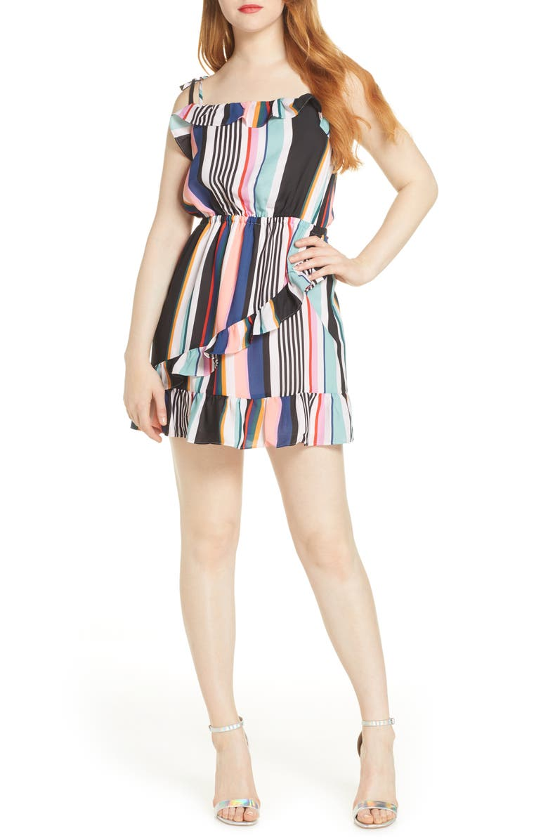 ALI & JAY Bonus Points Stripe Sundress, Main, color, FIESTA MULTI STRIPE