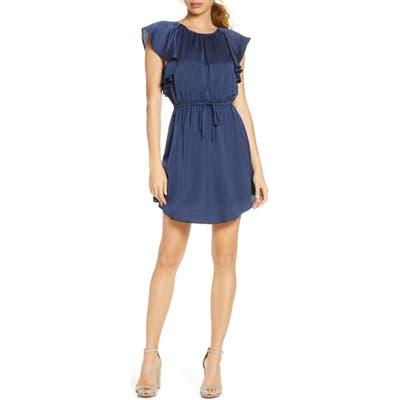 Nsr Ruffled Minidress, Blue