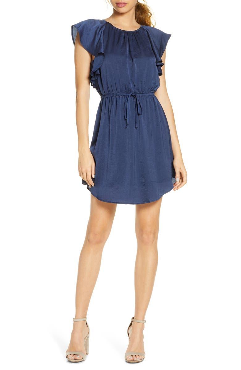 NSR Ruffled Minidress, Main, color, 410