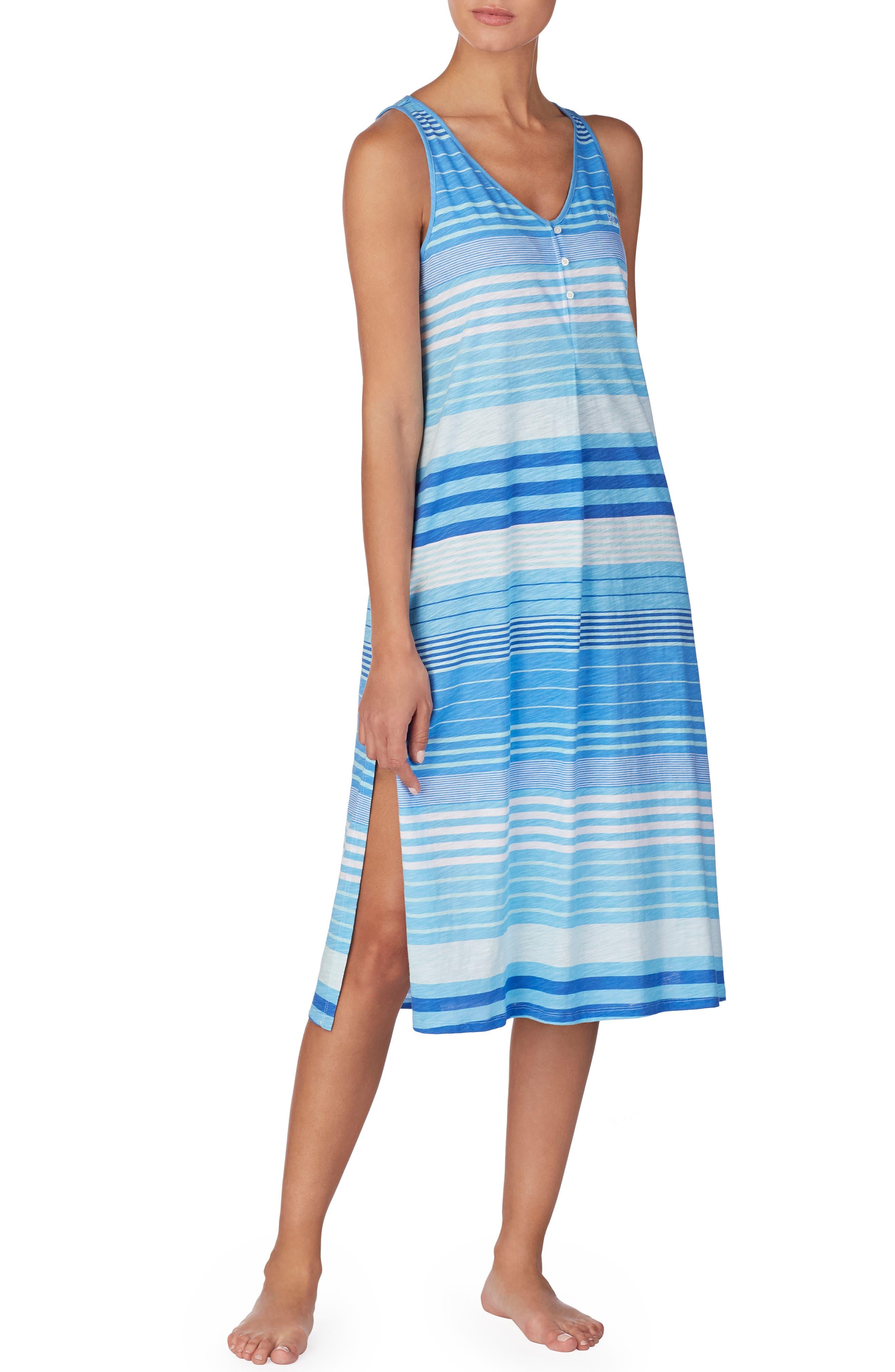 Lauren Ralph Lauren Long Ballet Nightgown, Blue
