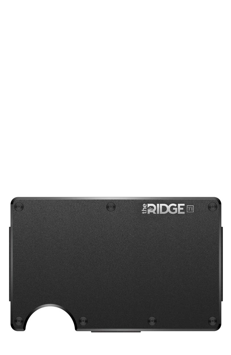THE RIDGE Titanium Money Clip Card Case, Main, color, BLACK/ TITANIUM