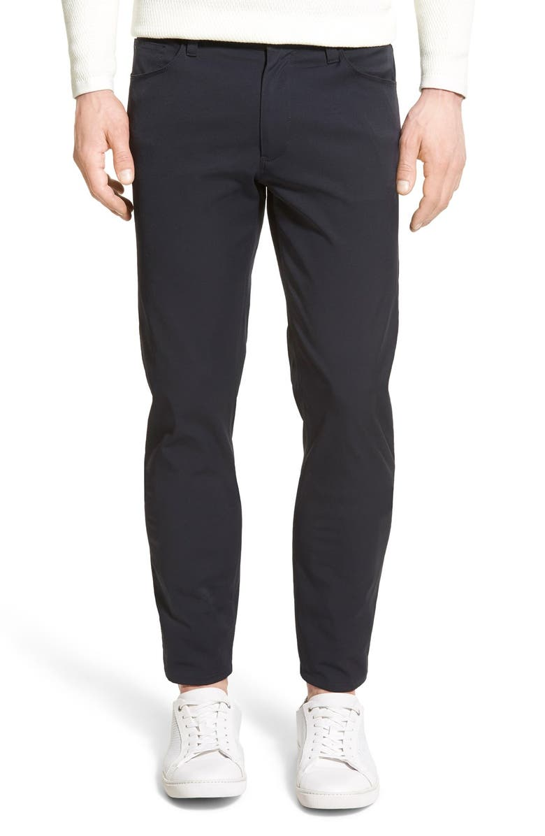 THEORY Zaine Neoteric Slim Fit Pants, Main, color, BLACK