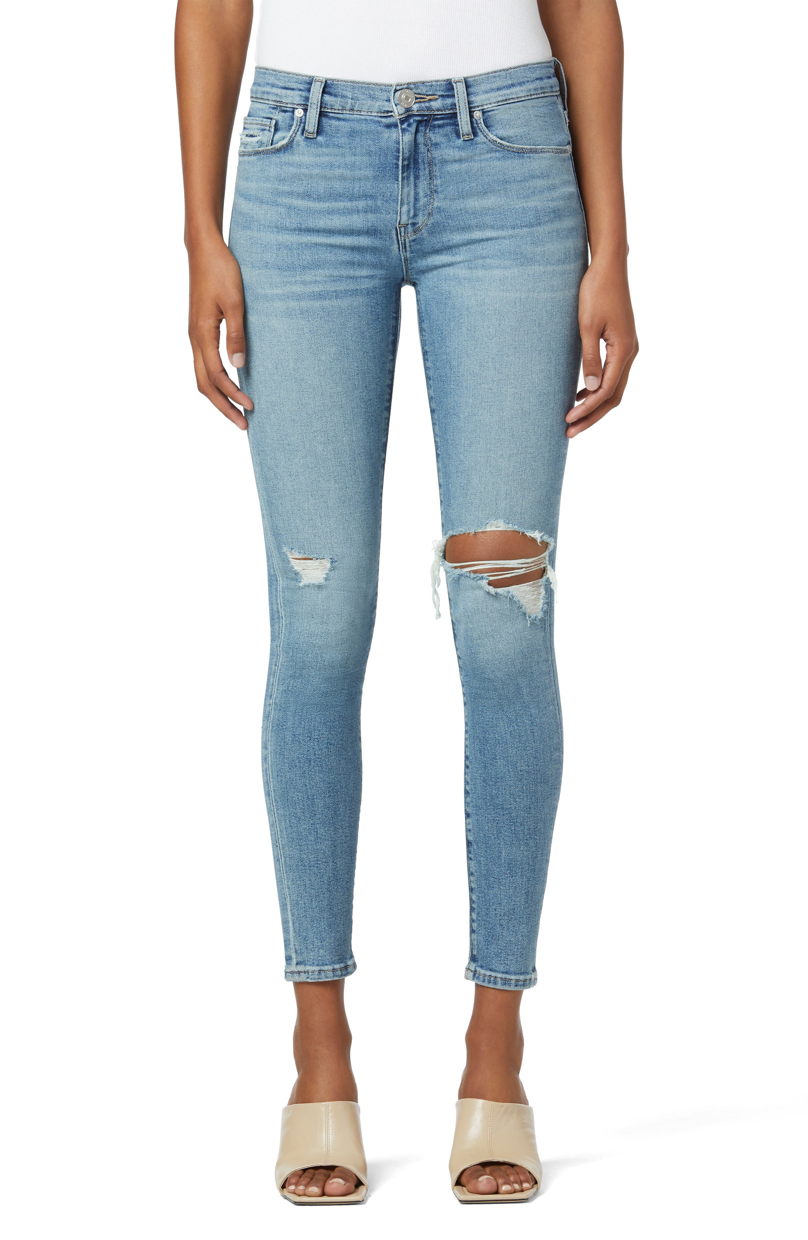 Nico Ripped Super Skinny Ankle Jeans