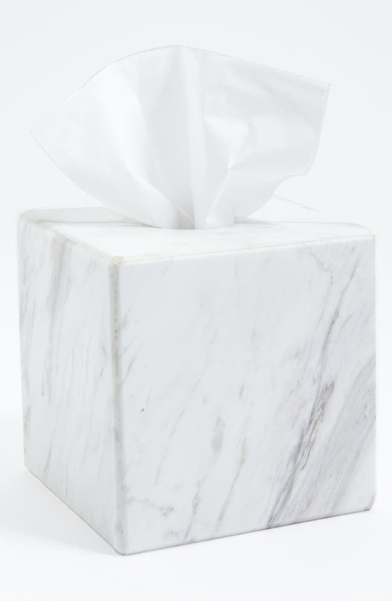 Waterworks Studio Luna White Marble Tissue Cover Online