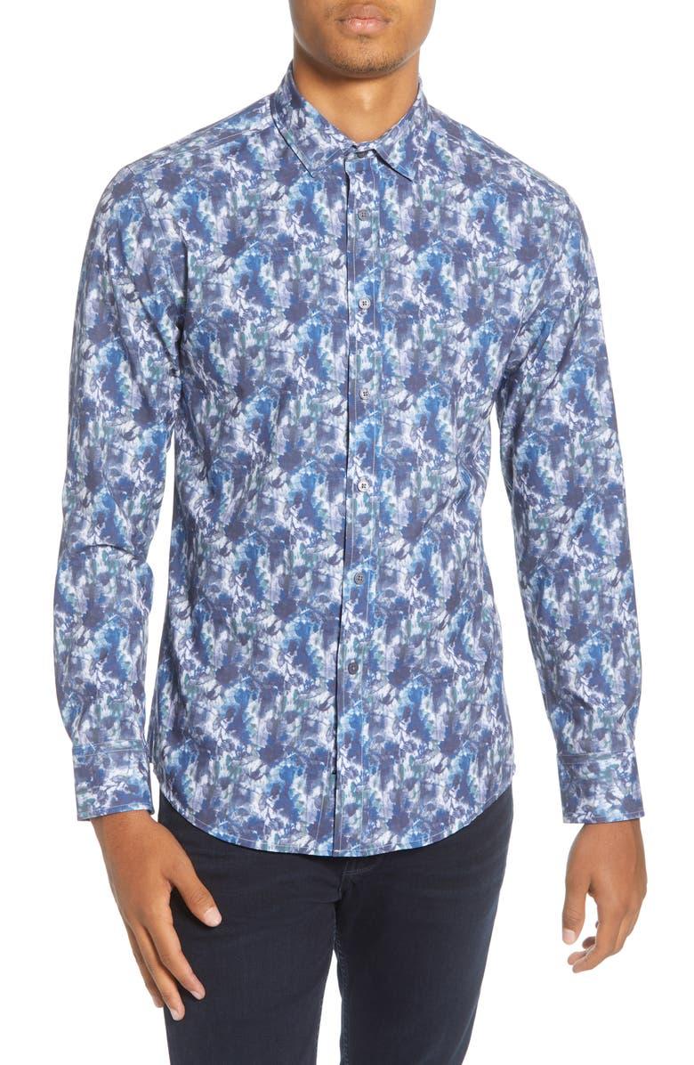 VINCE CAMUTO Slim Fit Floral Button-Up Shirt, Main, color, 405