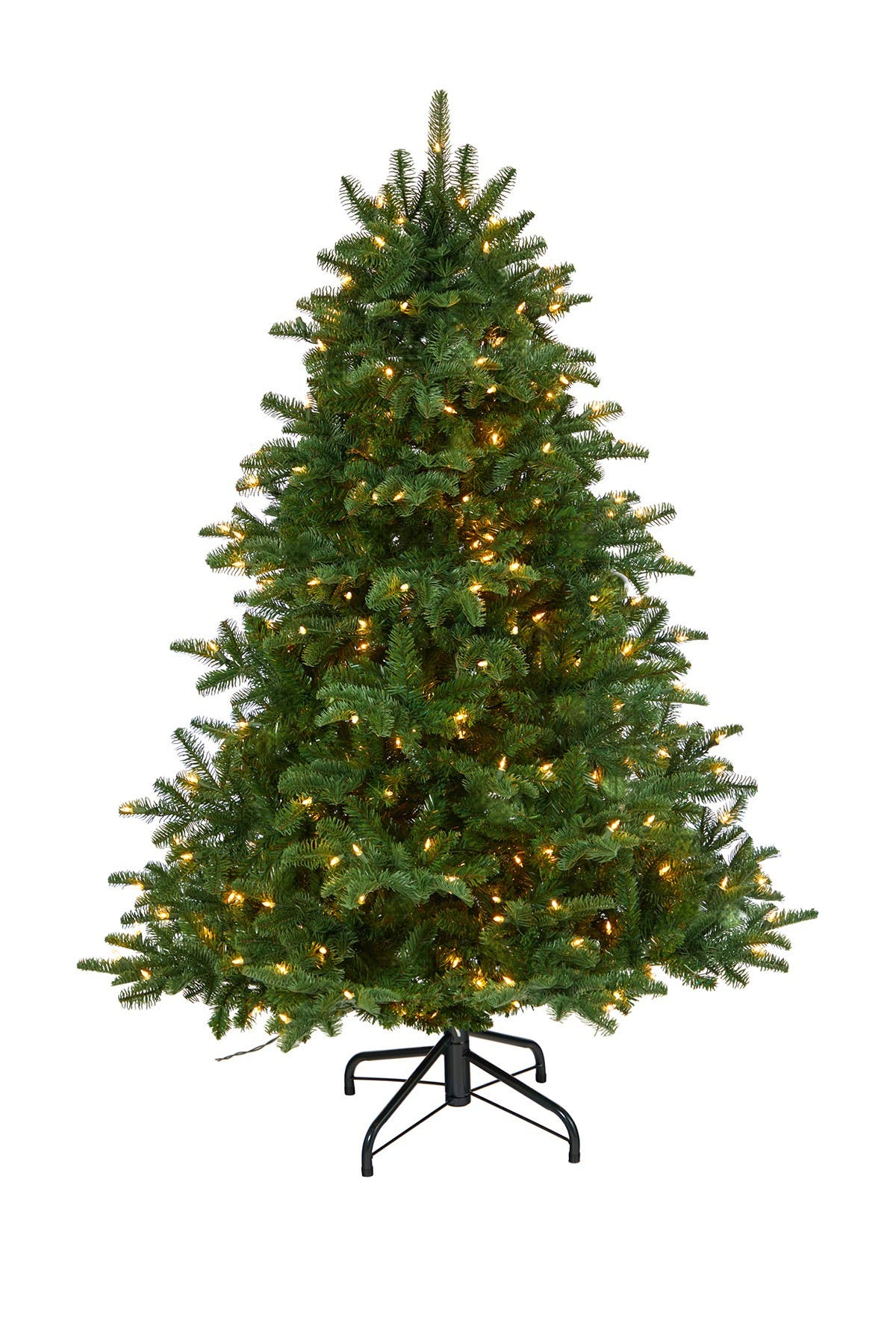 Image of NEARLY NATURAL 5ft. South Carolina Spruce Artificial Christmas Tree with 300 White Warm Lights