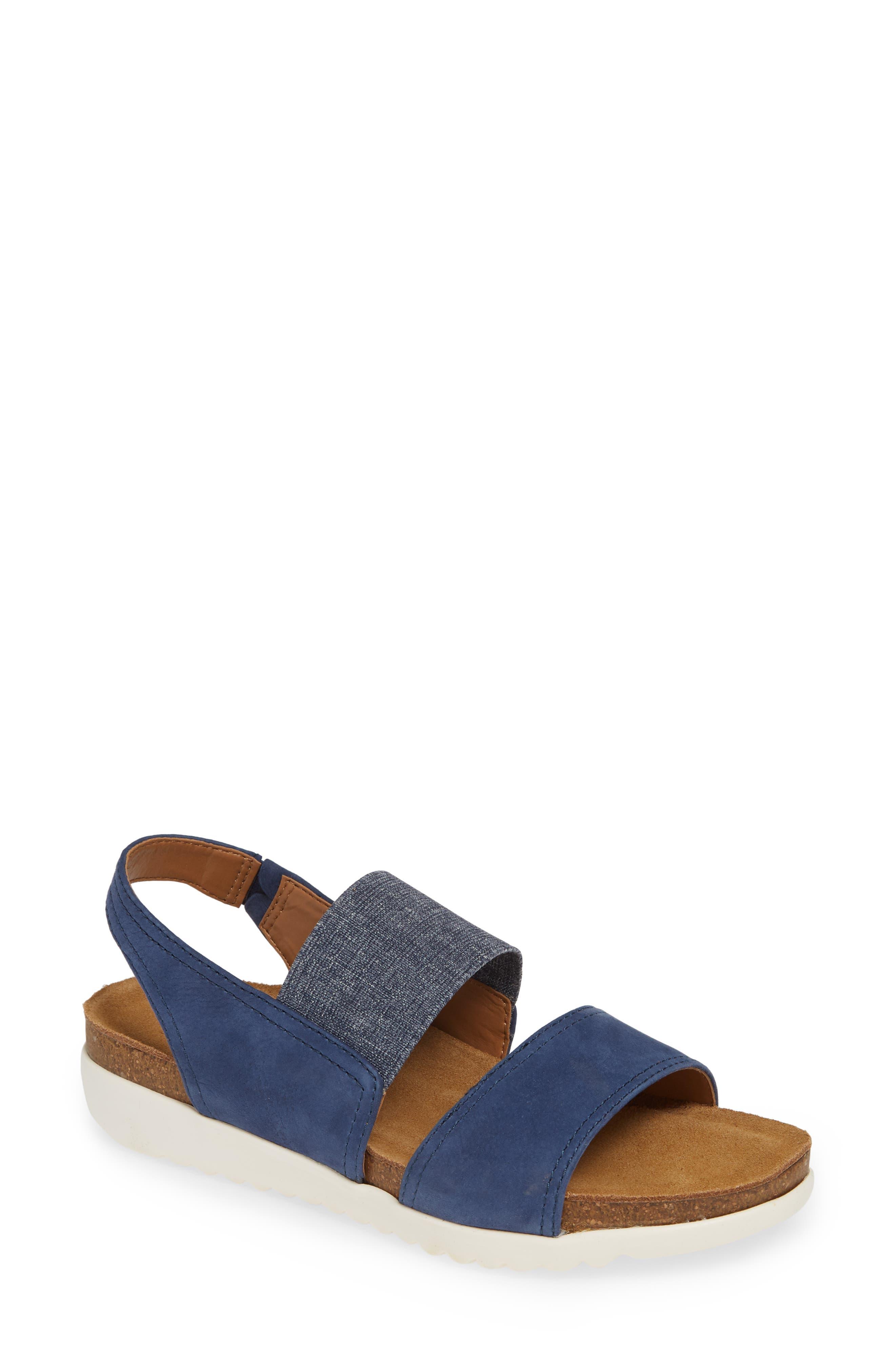 Comfortiva Elicia Wedge Sandal, Blue