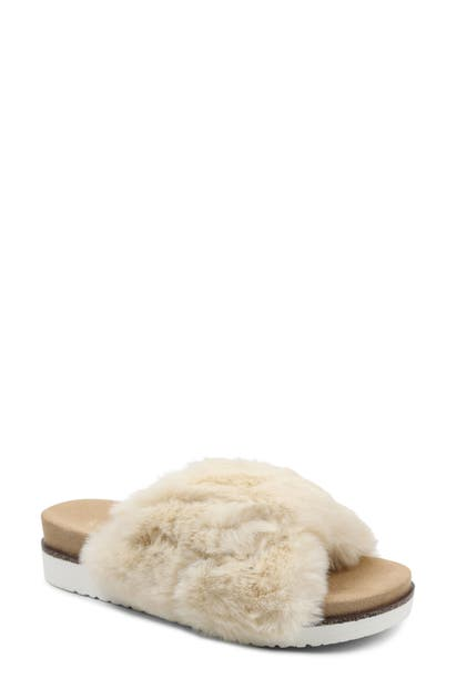 Kensie DAINE FAUX FUR SLIDE SLIPPER