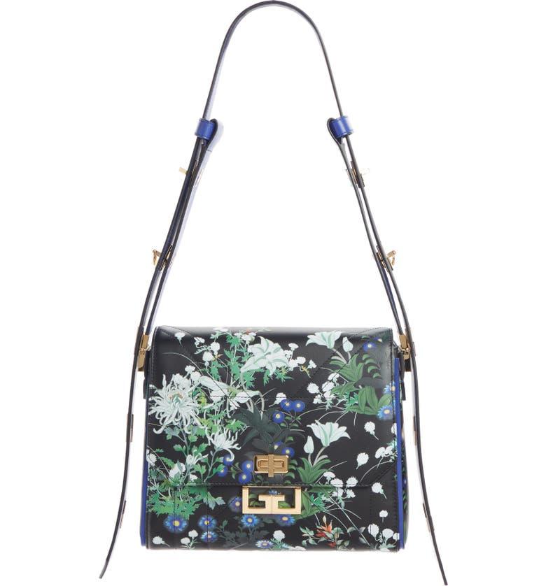 GIVENCHY Medium Eden Aroma Leather Shoulder Bag, Main, color, 001