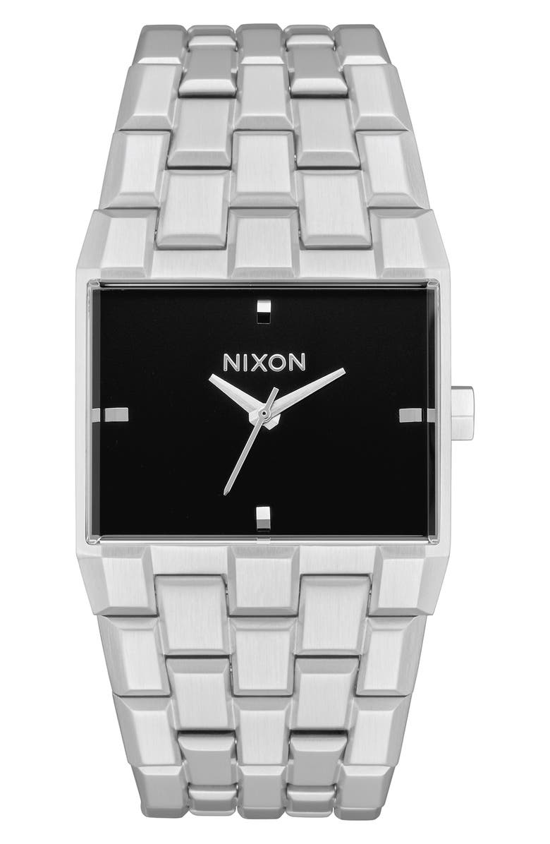 NIXON The Ticket Bracelet Watch, 34mm, Main, color, SILVER/ BLACK/ SILVER