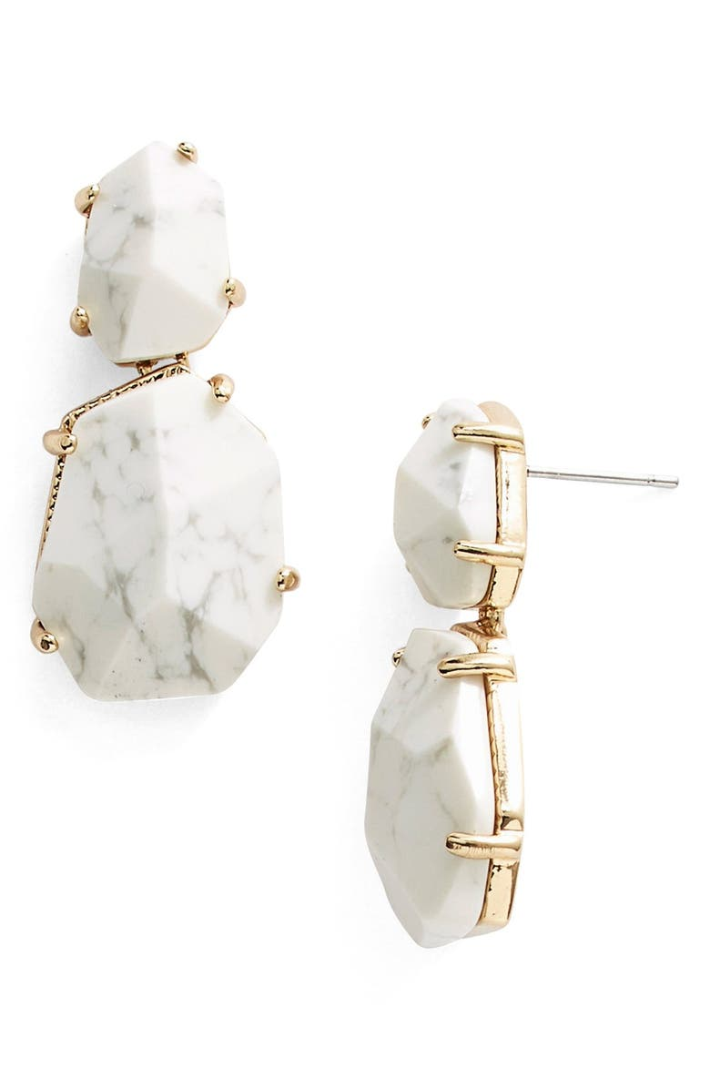KATE SPADE NEW YORK 'quarry gems' drop earrings, Main, color, 100