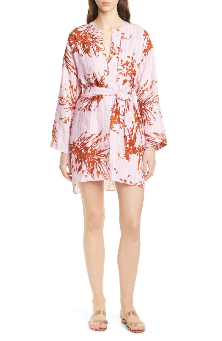 JOIE Sunanda Long Sleeve Linen Minidress, Main, color, 500
