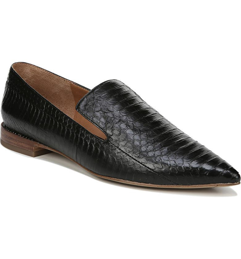 SARTO BY FRANCO SARTO Topaz Flat, Main, color, BLACK SNAKE PRINT LEATHER