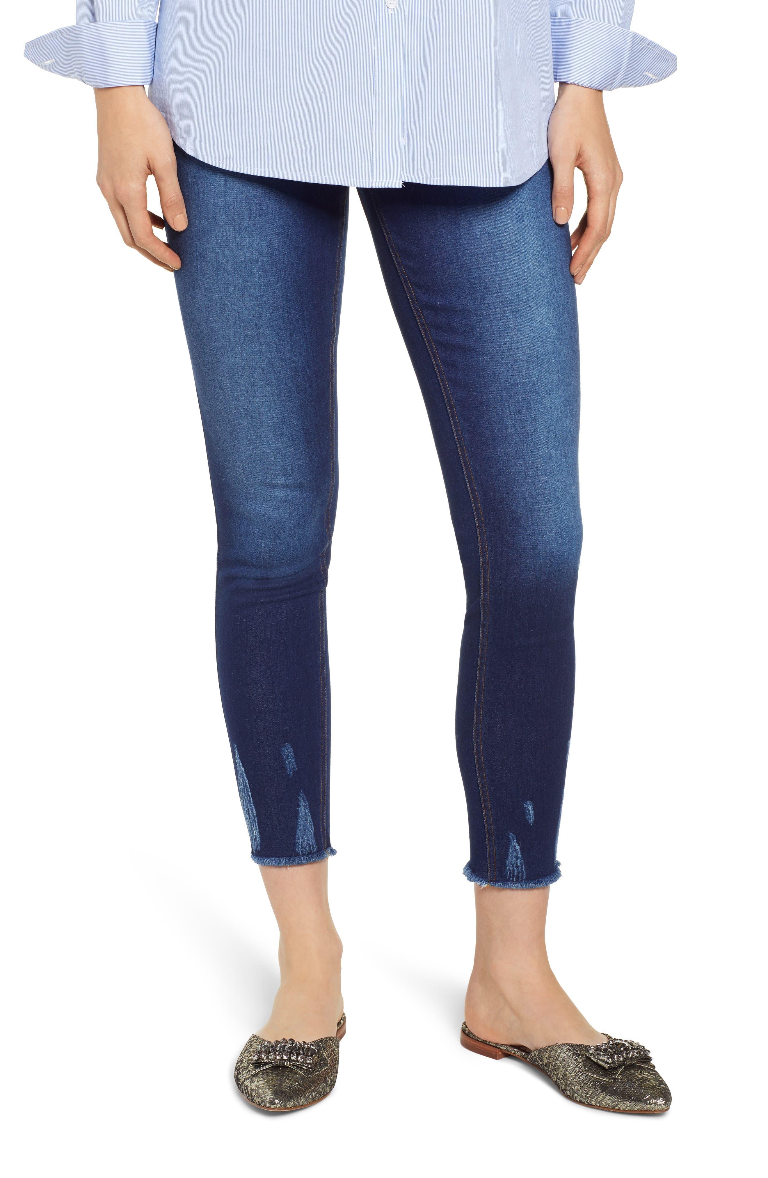 Plus Size Hue Ultrasoft Denim Skimmer Leggings, Size - Blue
