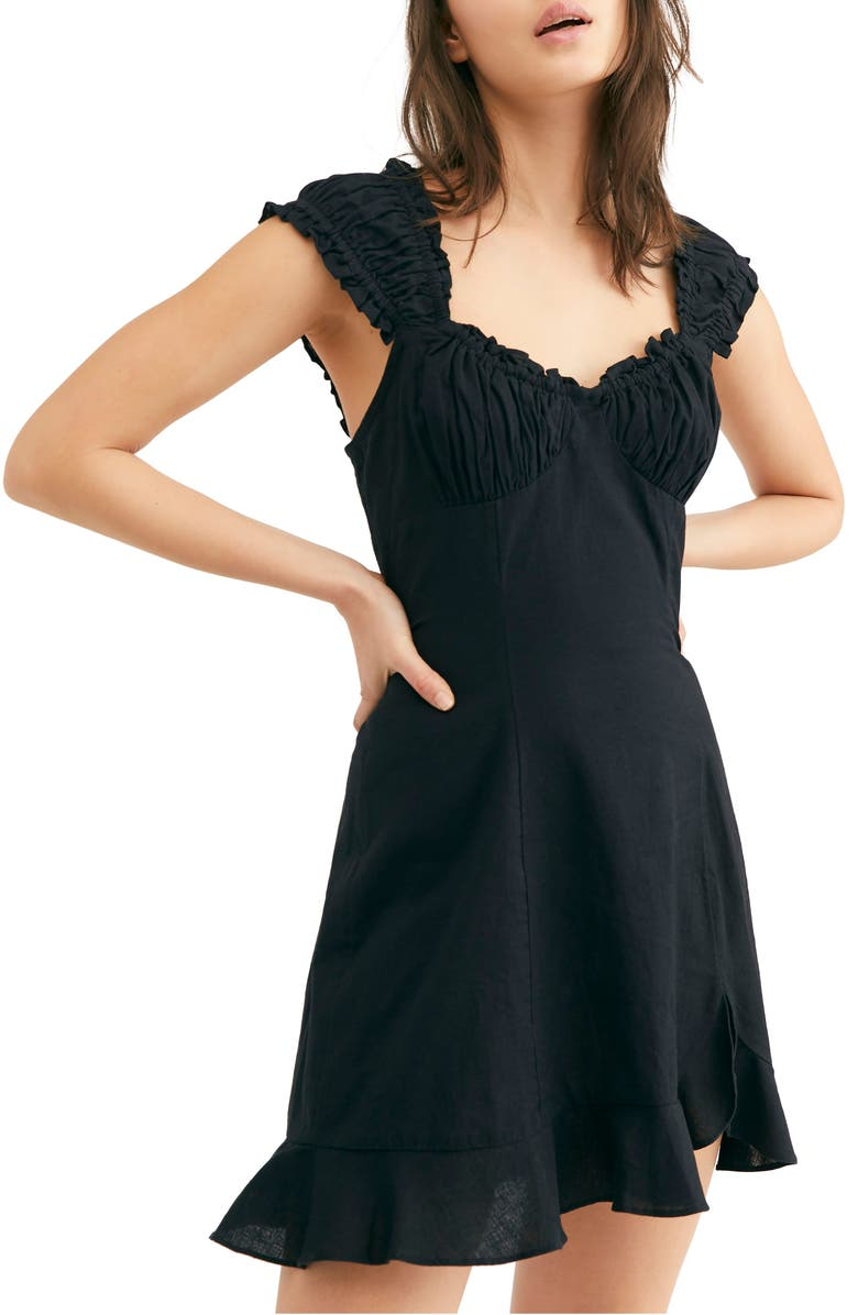 FREE PEOPLE Endless Summer by Free People Like a Lady Sundress, Main, color, BLACK
