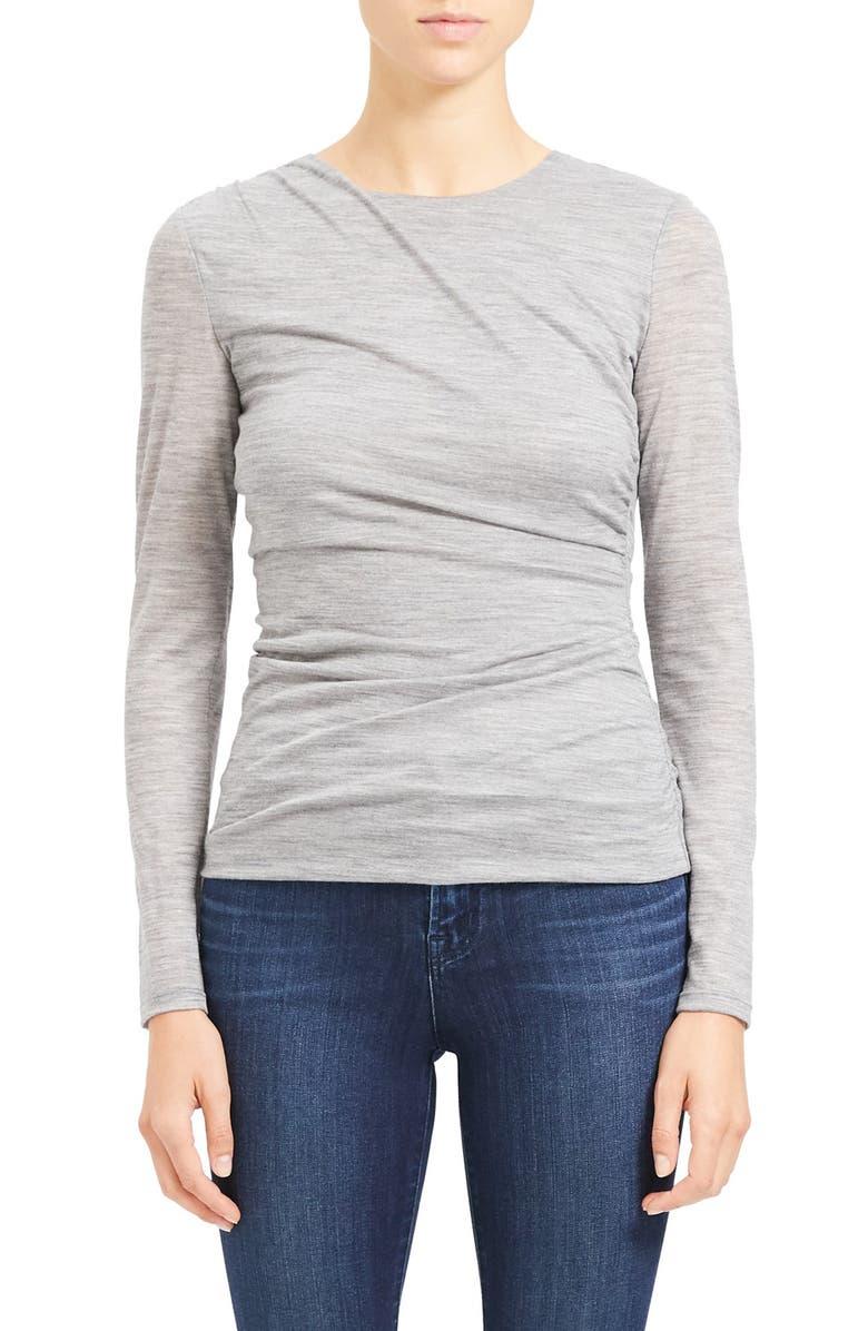 THEORY Twist Wool Top, Main, color, 024