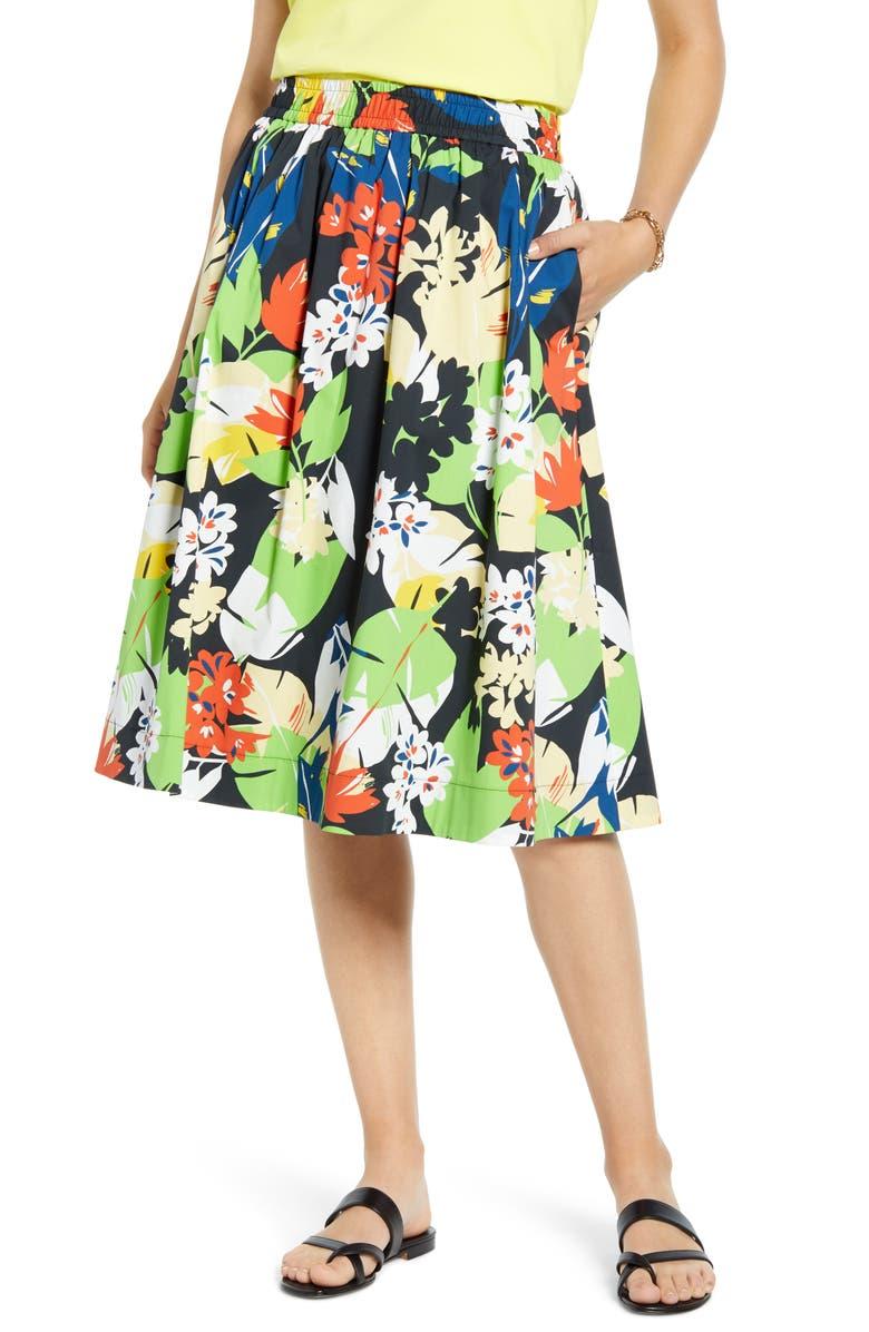 1901 Pull-On Poplin Skirt, Main, color, 001