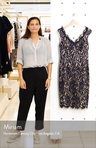 V-Neck Lace Sheath Dress, sales video thumbnail