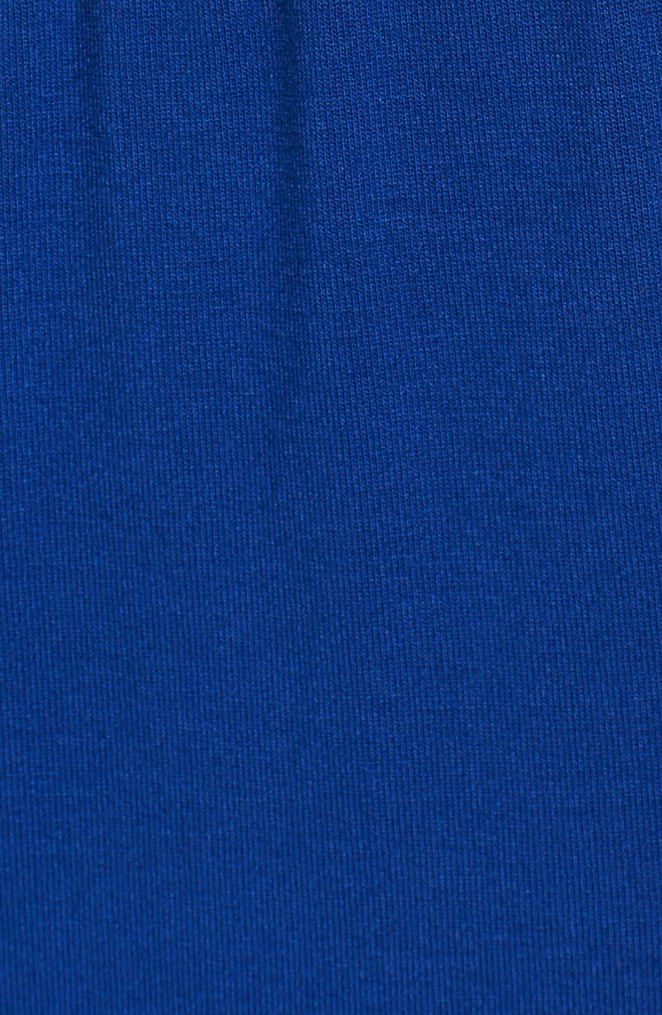 ,                             Drawstring Jersey Maxi Dress,                             Alternate thumbnail 6, color,                             BLUE MAZARINE