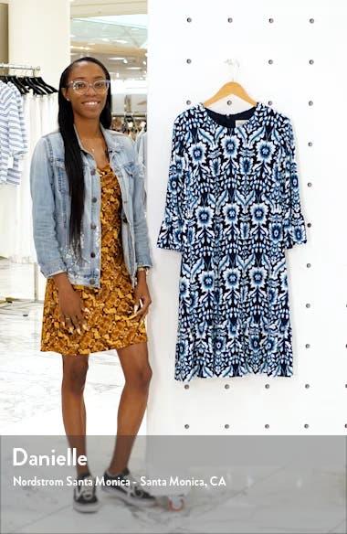 Floral Flounce Sleeve Dress, sales video thumbnail