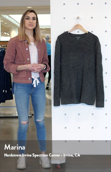 CozyChic<sup>™</sup> Aran Crewneck Sweater, sales video thumbnail