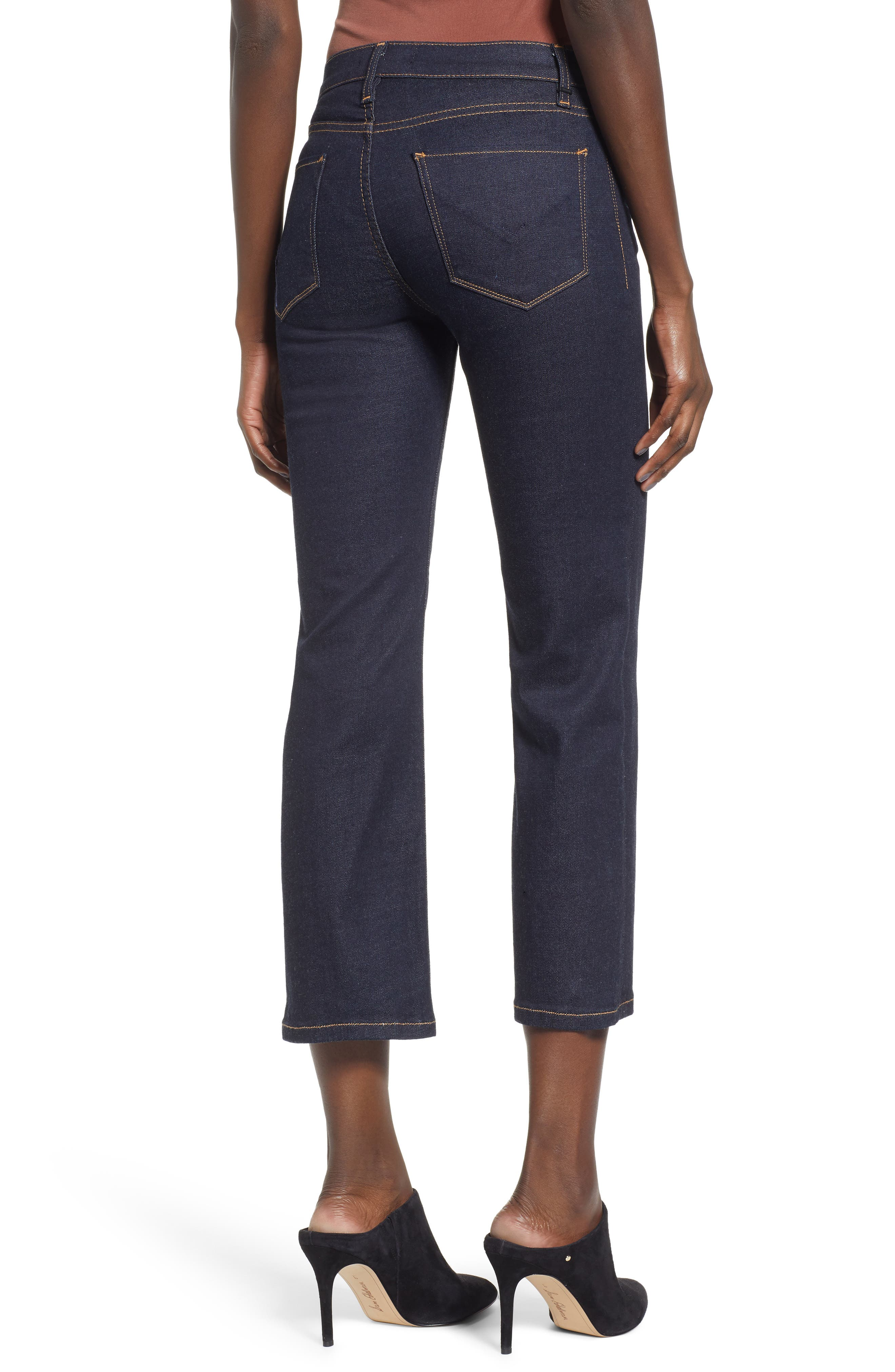 ,                             Stella Crop Straight Leg Jeans,                             Alternate thumbnail 2, color,                             402