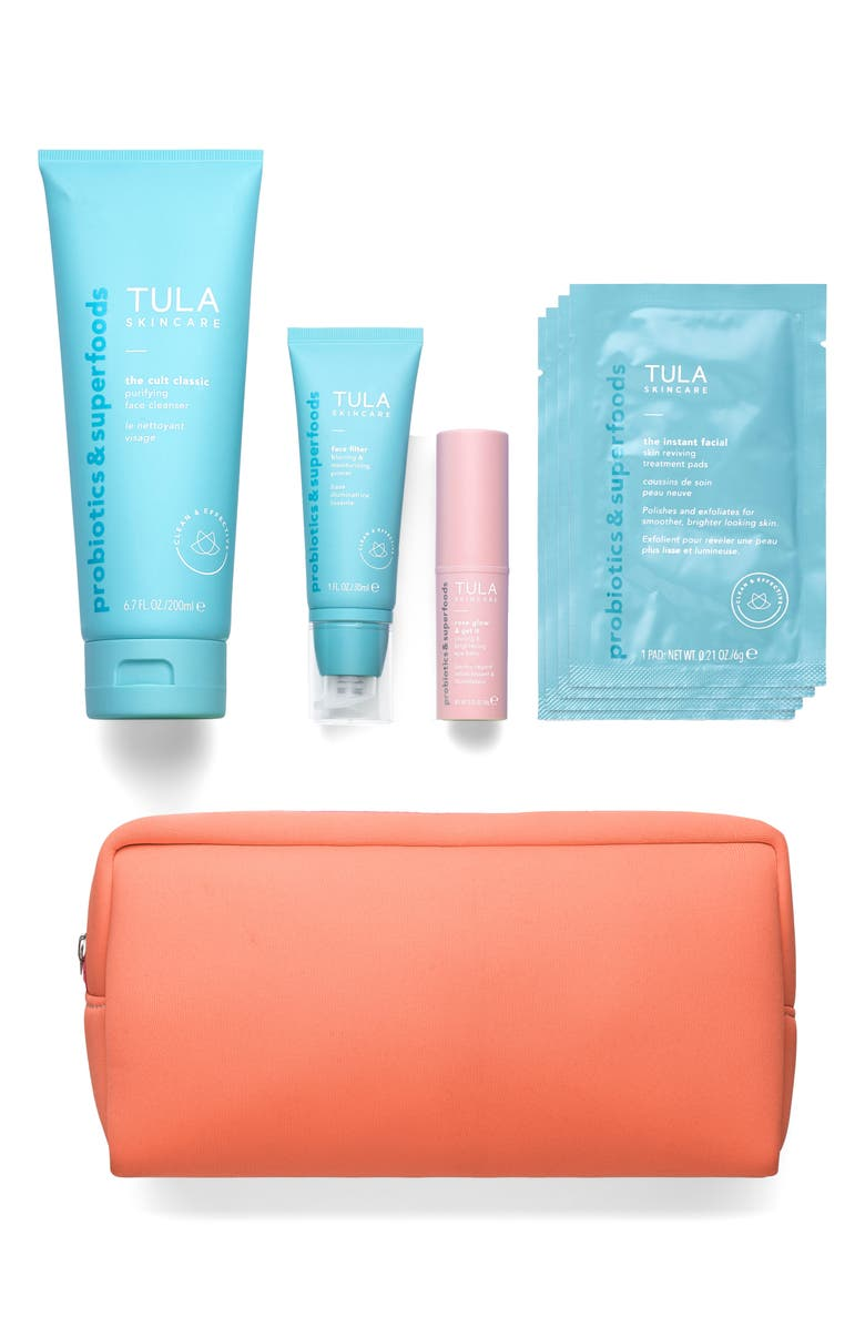 TULA SKINCARE Ready, Set, Glow No Filter Skin Care Set, Main, color, NONE