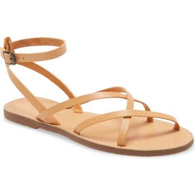 Madewell The Boardwalk Skinny Strap Sandal, Beige