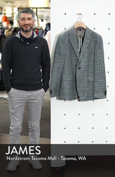 Nobis Slim Fit Plaid Linen & Wool Sport Coat, sales video thumbnail