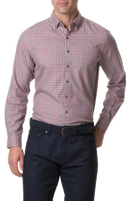 Image of RODD AND GUNN Gammons Regular Fit Check Button-Up Shirt