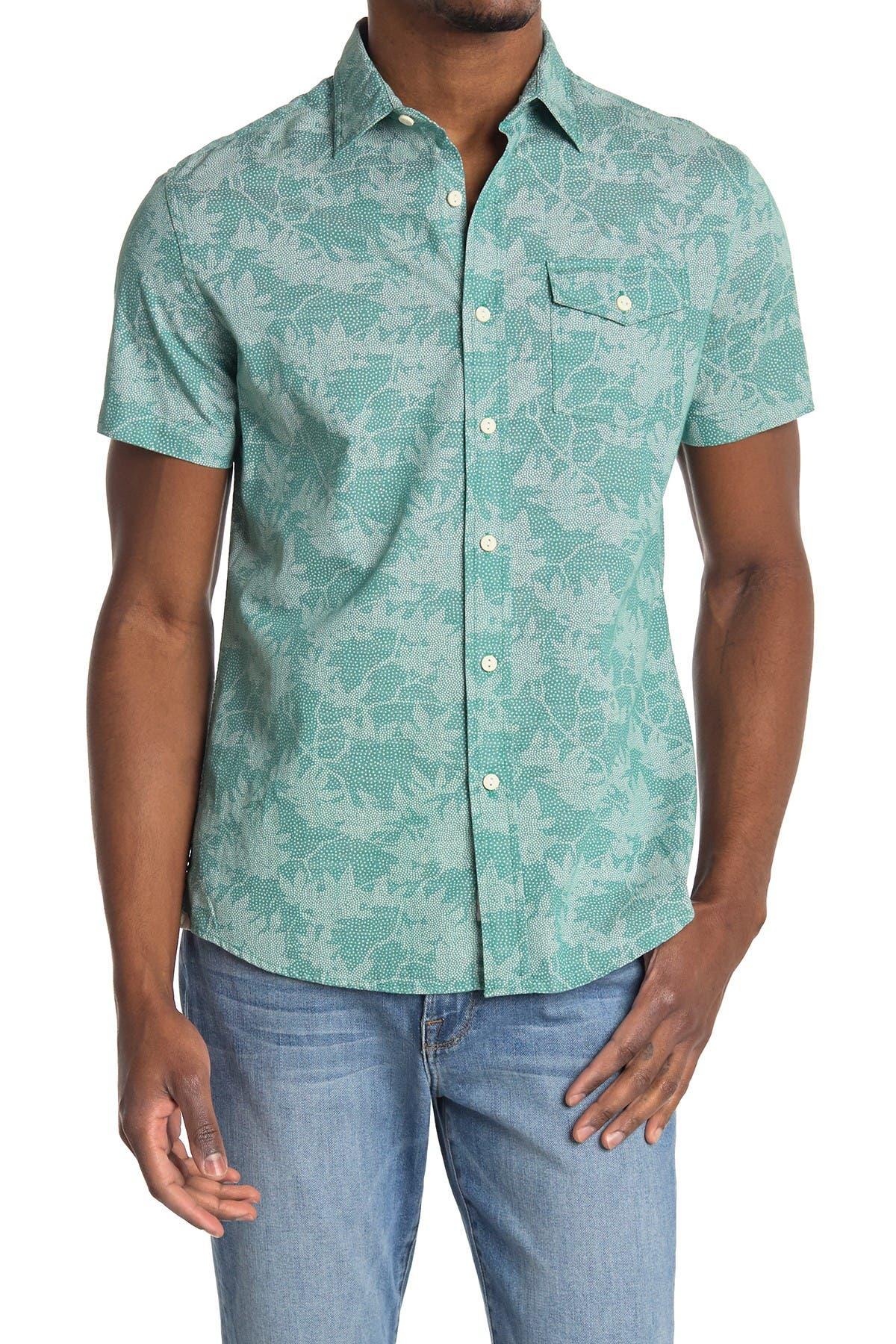 Image of Grayers Camo Leaf Short Sleeve Shirt