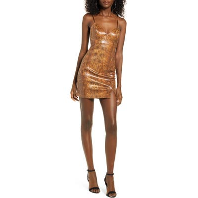 J.o.a. Body-Con Minidress, Brown