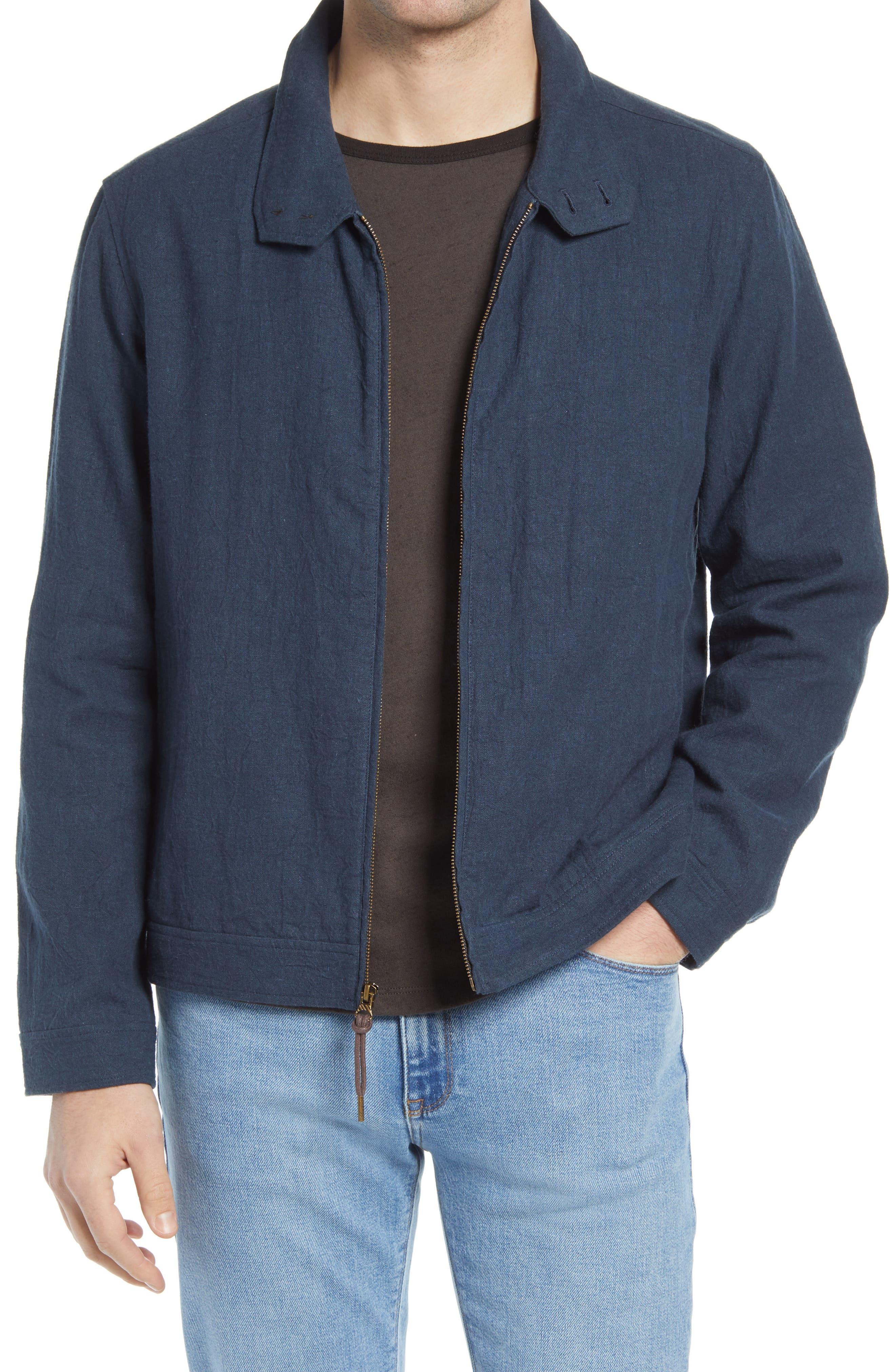 Men's Billy Reid Barracuda Linen & Cotton Jacket