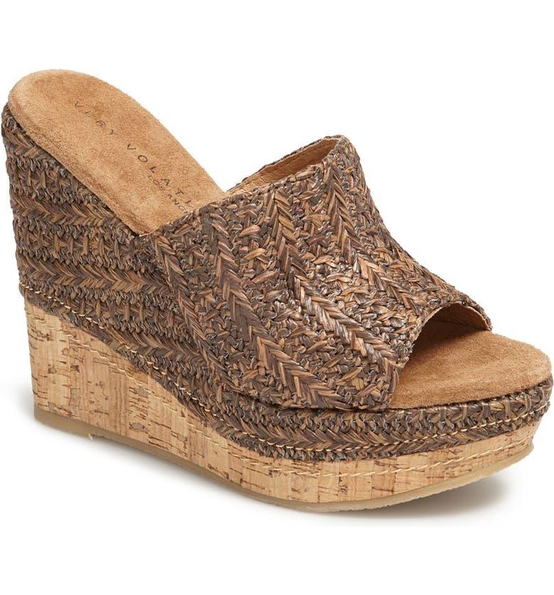 VERY VOLATILE 'Sandstone' Wedge Sandal, Main, color, 200