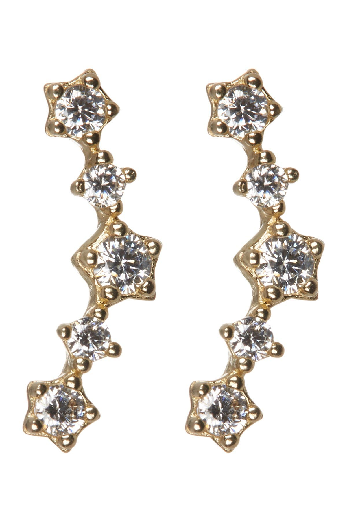 Image of Candela 14K Yellow Gold CZ Constellation Stud Earrings