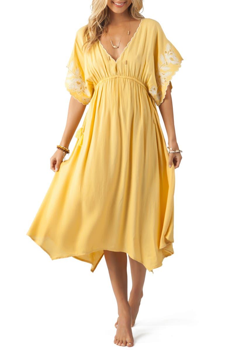 RIP CURL Sweet Escape Embroidered Midi Dress, Main, color, 721