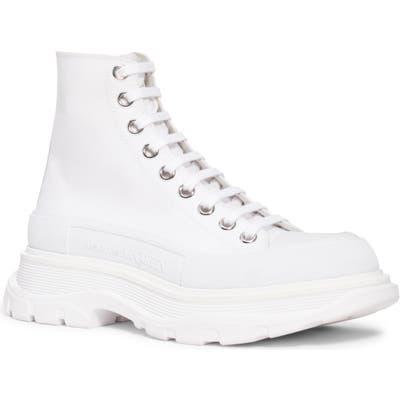 Alexander Mcqueen Trek High Top Sneaker, White