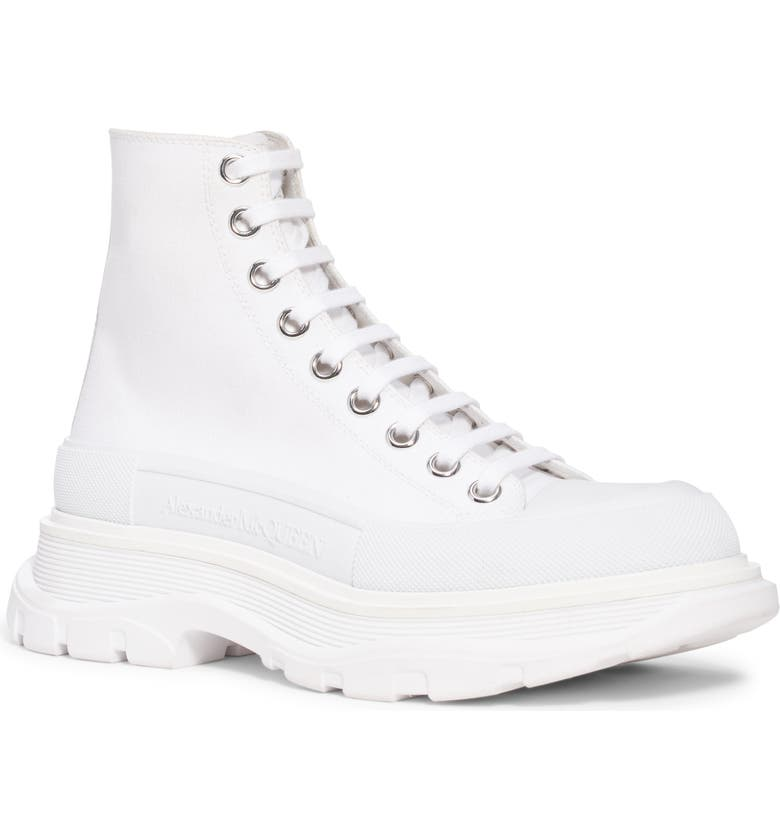 ALEXANDER MCQUEEN Tread Slick High Top Sneaker, Main, color, WHITE