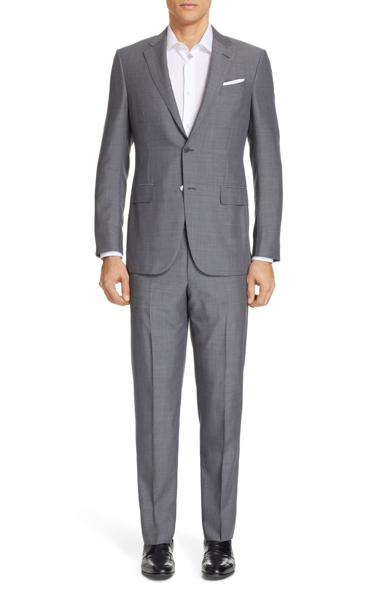 ERMENEGILDO ZEGNA Leggerissimo Classic Fit Wool & Silk Suit, Main, color, 022