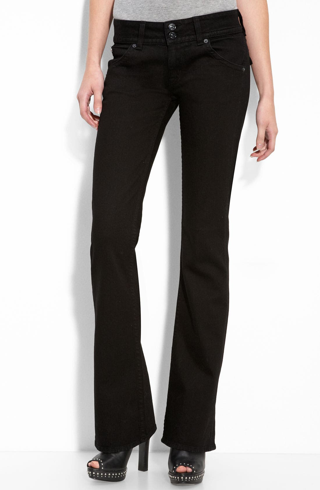 ,                             Signature Flap Pocket Bootcut Jeans,                             Main thumbnail 12, color,                             013