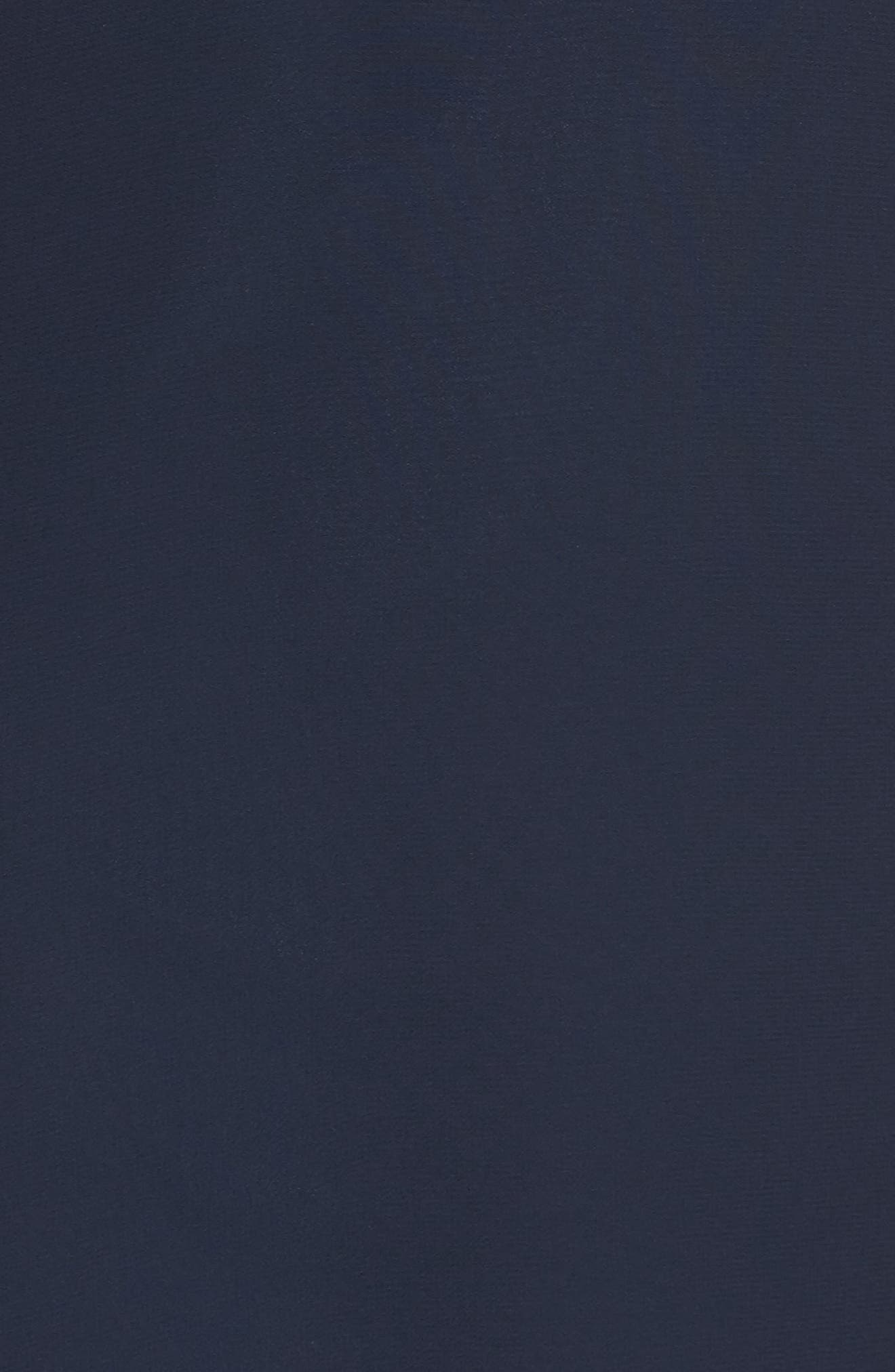 ,                             Priya Cold Shoulder Chiffon Evening Dress,                             Alternate thumbnail 6, color,                             NAVY