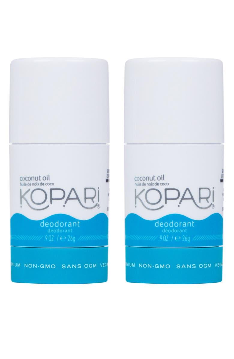 KOPARI Mini Natural Coconut Deodorant Duo, Main, color, NO COLOR