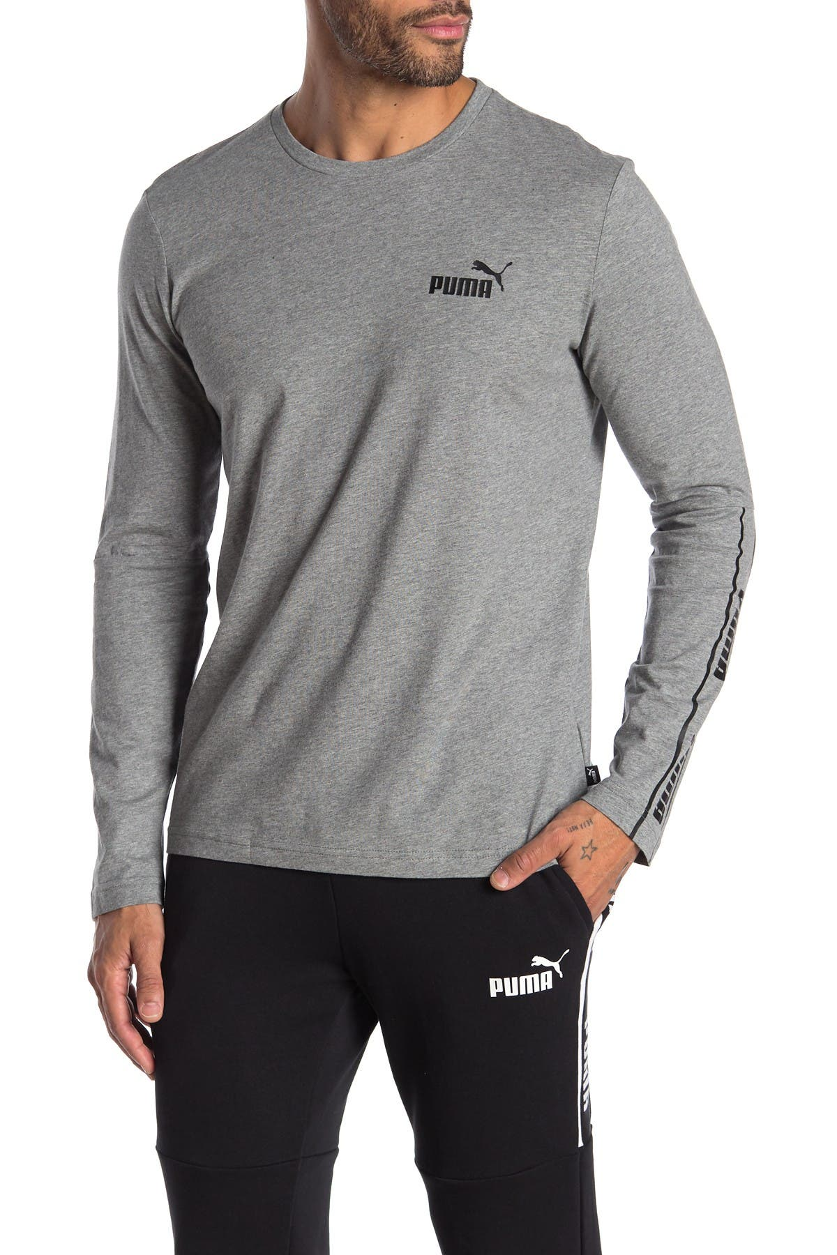 Image of PUMA Amplified Logo Long Sleeve T-Shirt