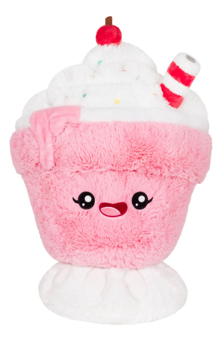 SQUISHABLE Strawberry Milkshake Stuffed Toy, Main, color, 650